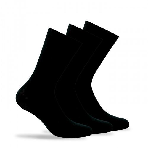 Lot de 3 paires de chaussettes unies en coton
