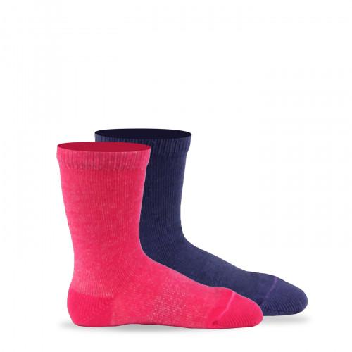 Lot de 2 paires de chaussettes unies en pur coton