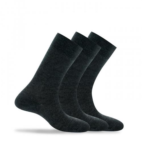 Lot de 3 paires de chaussettes unies anti-odeur