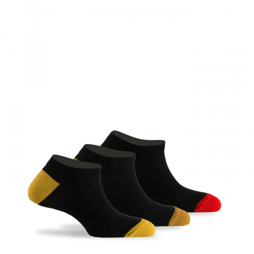Lot de 3 paires d'invisibles unies talons et pointes colorés
