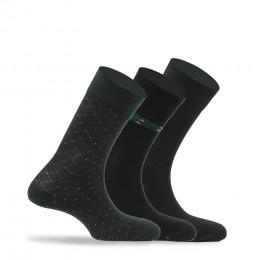 Lot de 3 paires de mi-chaussettes coton majoritaire