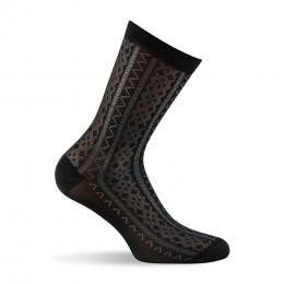 Mi chaussettes mailles fantaisies noir
